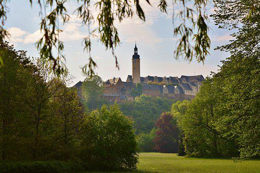 Greiz, Castle Park, Nature, Upper Castle, Landscape