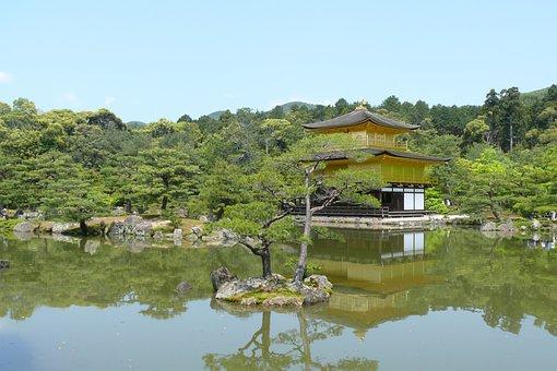 Japan, Kyoto, Temple, Architecture, Kinkakuji