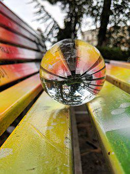 Lensball, Crystal, Colorful, Glass, Sphere, Ball, Round