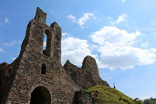 Castle, Ruins, Middle Ages, Building, Old, Historically