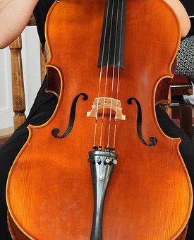 Cello, Music, Cellist, Classic, Tool, Sound, Brown