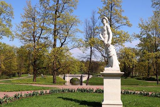 Park, Spring, Stroll, Vacation, Design, Sculpture, Sky