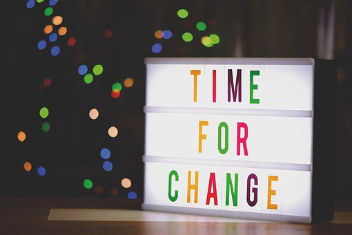 Time For A Change, New Ways, Letters, Words, Font