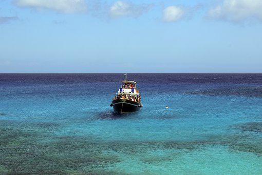 Boat, Sea, Water, Clear, Transparent, Nature, Sky