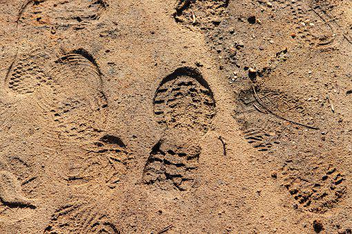 Shoe Print, Sand, Mark, Trekking, Outdoor, Track