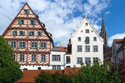 Fachwerkhaus, Ulm, Truss, Historic Center, Architecture