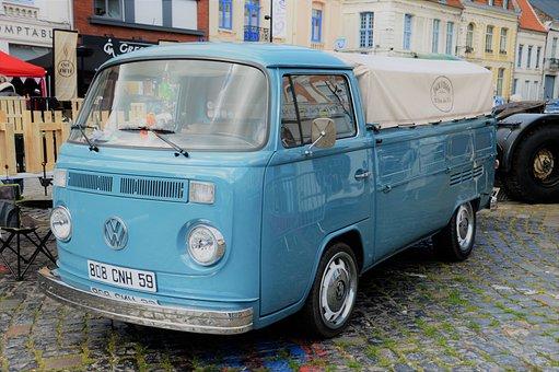 Volkswagen Type 2, Van, Car, Vehicle, Automobile, Retro