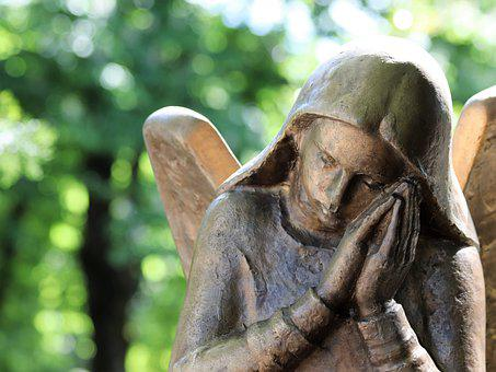 Angel, Wings, Bronze, Sculpture, Monument, Woman