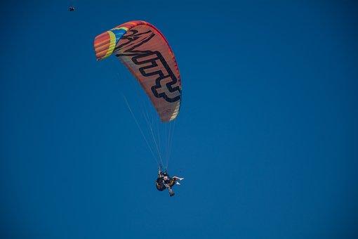 Paragliding, Fly, Parachute, Sky, Sport, Adventure
