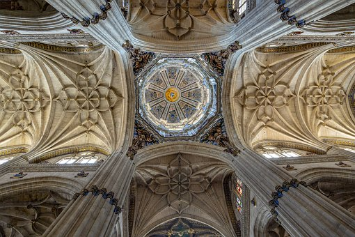 Church, Salamanca, Spain, Architecture, Cathedral