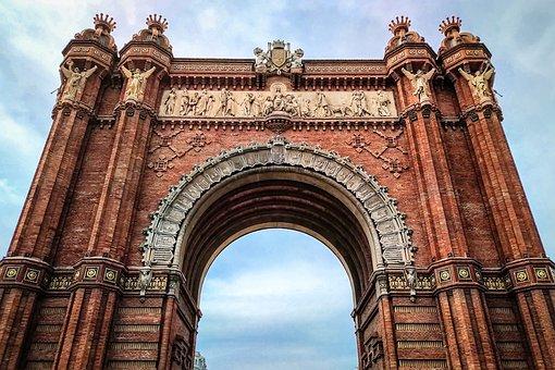 Barclona, Spain, Arc De Triomphe, Architecture, Arch
