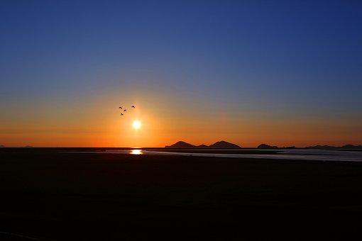 Sea, Glow, Lagoon, Sunset, Beach, Twilight, Landscape