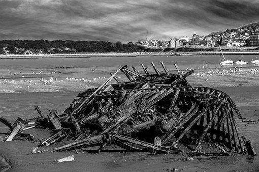 Wreck, Ship, Boat, Shipwreck, Sea, Old, Nature, Water