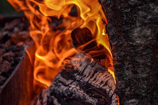 Wood, Fire, Heat, Burn, Flame, Glow, Campfire, Hot