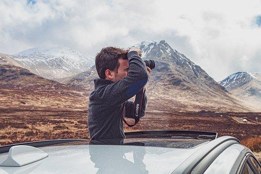 Photographer, Man, Male, Canon, Camera, Landscape