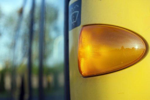 Signpost, Turn Signal, Blinker, Automotive, Closeup