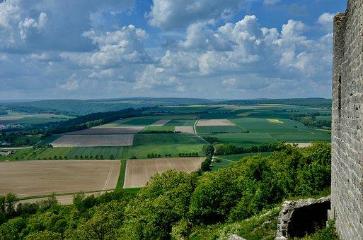 Landscape, Panorama, Nature, Clouds, Fields, Sky