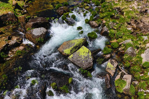 River, Water, Colorful, Alive, Rock, Stone, Bank
