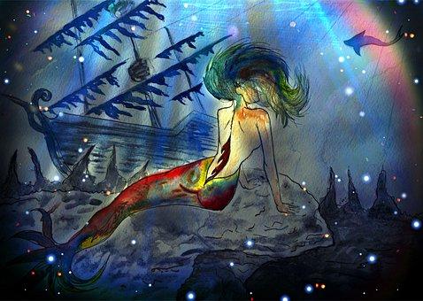 Mermaid, Fantasy, Story, Mystic, Fabulous Creatures