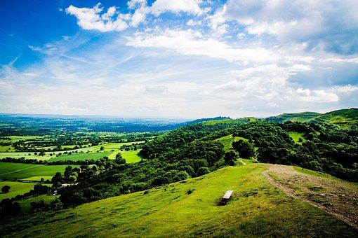 Malverns, Fields, Landscape, Outdoors