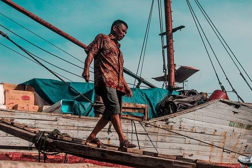 Human, Jakarta, Indonesia, Travel, Asia, Fisherman