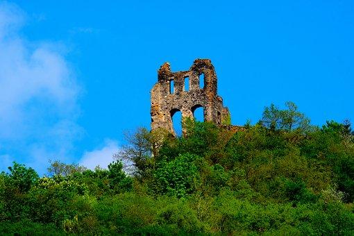 Burgruine, Tower, Ruin, Castle, Grevenburg, Middle Ages