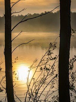 Sunrise, Lake, Water, Sunset, Landscape, Nature