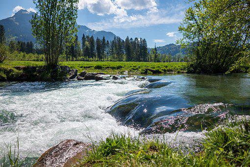 Leitzach, River, Bach, Nature, Landscape, Forest, Creek