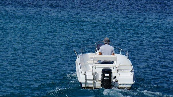 Powerboat, Man, Lifestyle, Port, Ocean, Sea, Lanzarote