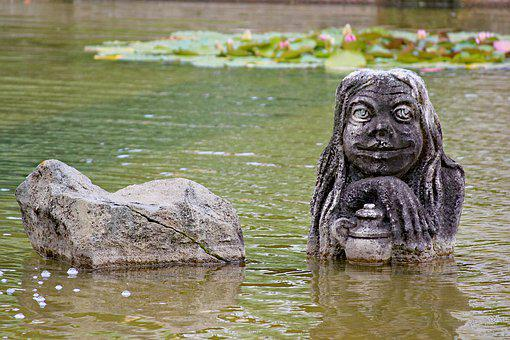 Statue, The Water Sprite, Water Goblin, Decoration