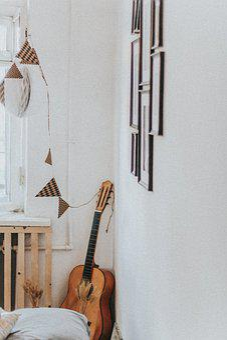 Guitar, Decor, Music, Beautiful, Yellow, Style, Eco