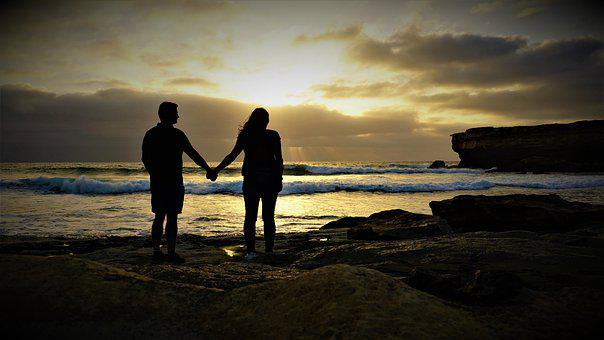 Pair, Love, Sunset, Fuerteventura, The Day Of Lovers