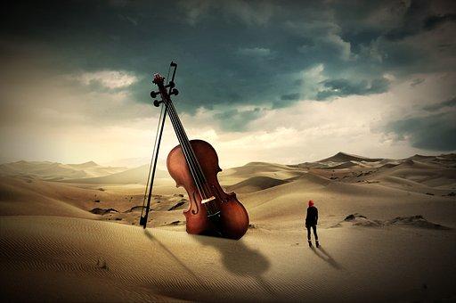 Violin, Violin Bow, Instrument, Digital, Music, Art