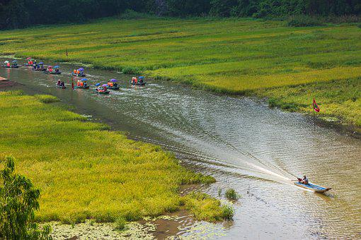 Boat, Water, Lake, Vietnam