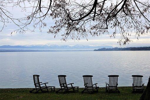 Starnberger See, Landscape, Tutzing, Lake, Bank, Waters