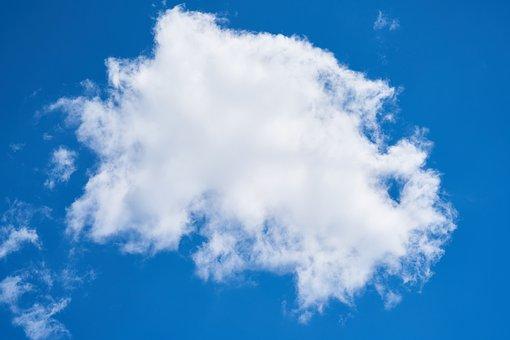 Cloud, Blue, White, Sky, Clouds, Nature, Summer, Air