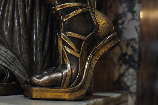 Sandal, Sculpture, Woman, Human, Beautiful, Art, Bronze