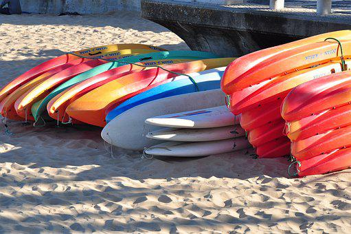 Boats, Color, Boat, Water, Sand, Shore, Red, Travel