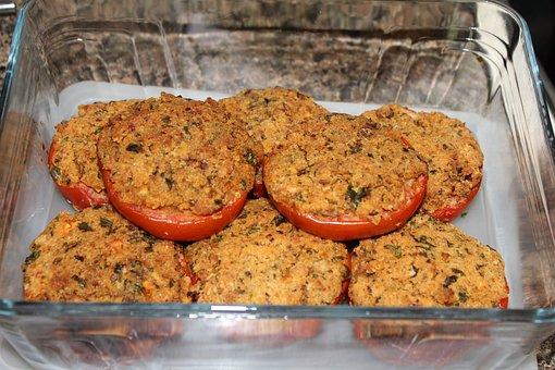 Tomatoes, Cooked, Eat, Breadcrumbs, Herbs