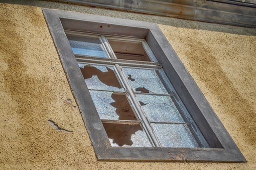 Window, Old, Building, Destroyed, Glass, Architecture