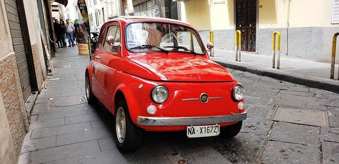 Fiat, Car, Italy, Old, Vintage, Italian, Miniature