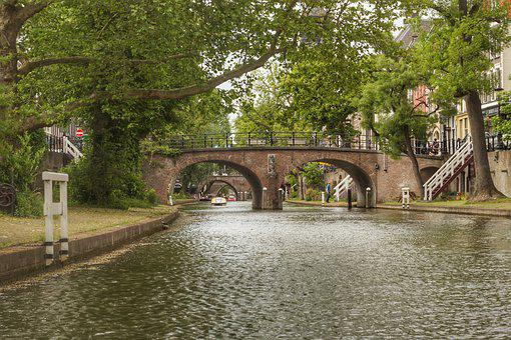 Holland, Utrecht, Netherlands, Channel, Channels, River