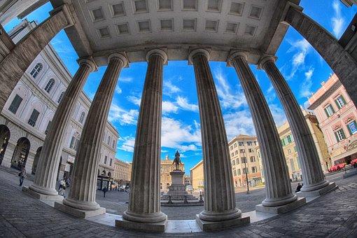 Genoa, Liguria, Landscape, City, Architecture, Trip