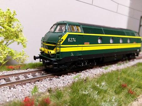 Sncb, Diesel Locomotive, Type 62, Ho Model Trains