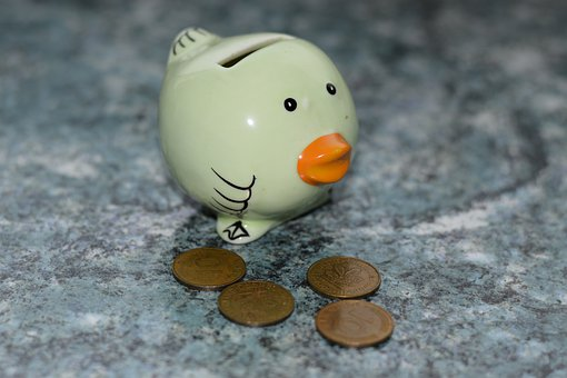Piggy Bank, Money, Save, Finance, Bird, Deco, Ceramic