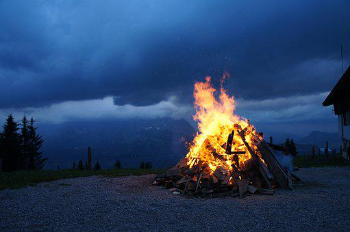 Fire, Mountains, Easter Fire