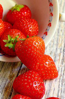 Strawberries, Red, Fruit, Sweet, Delicious, Vitamins
