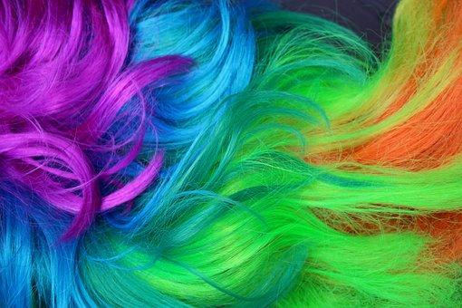 Wig, Artificial Hair, Fun, Fiber, Colorful