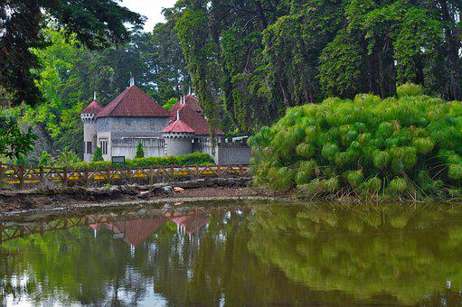 Castle, Costa Rica, Heredia, Pond, Water, Architecture