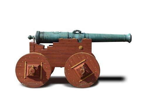 Artillery Canon, Old Canon, Ps-file, Editable Shadow
